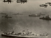 Fleet Review 1937 Fleet Air Arm flys over Naval ships