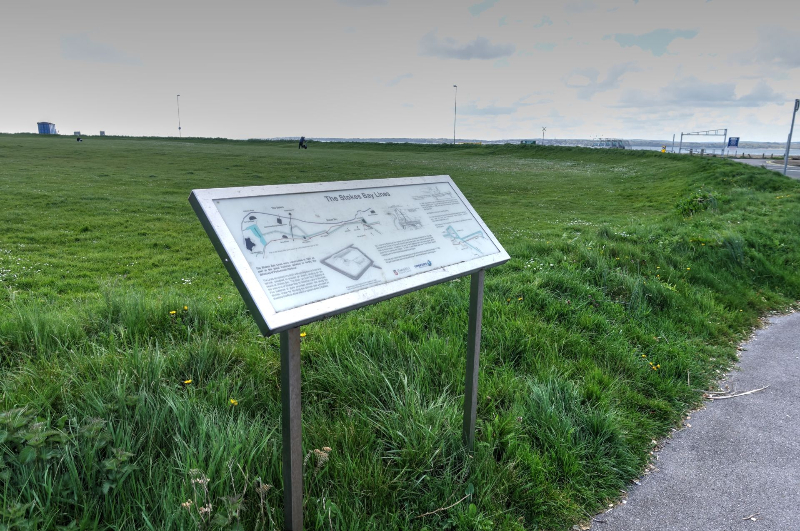 Stokes Bay Lines Interpretation Board 1