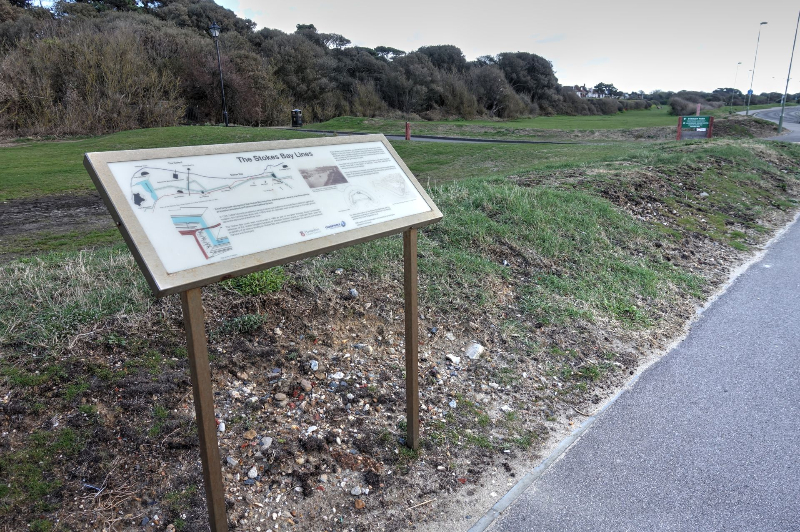 Stokes Bay Lines Interpretation Board 3
