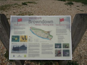 Browndown Information Board