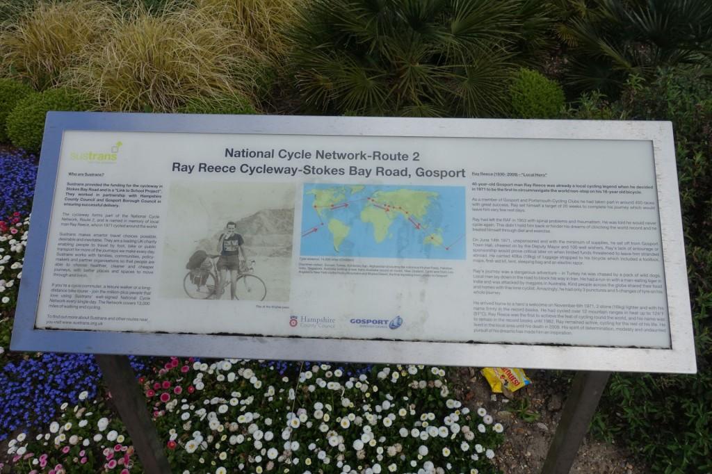 Ray Reece Cycleway interpretation board