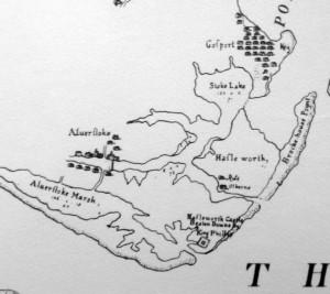 Map by Burt 1587