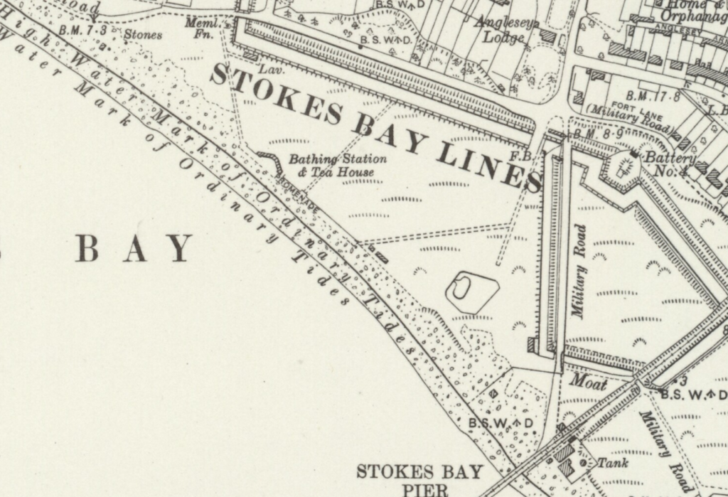 Map of stokes bay in 1931