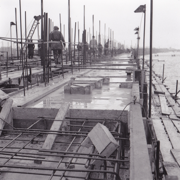 Phoenix Caissons for the Mulberry Harbours being constructed on Stokes Bay 2