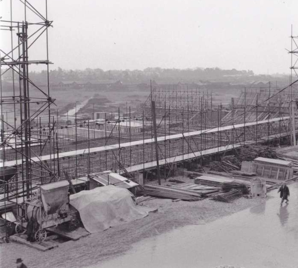 Phoenix Caissons for the Mulberry Harbours being constructed on Stokes Bay 3
