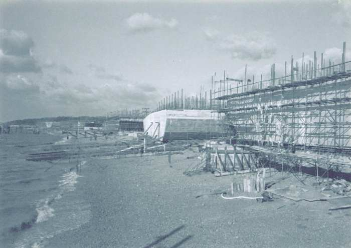 Phoenix Caissons for the Mulberry Harbours being constructed on Stokes Bay 6