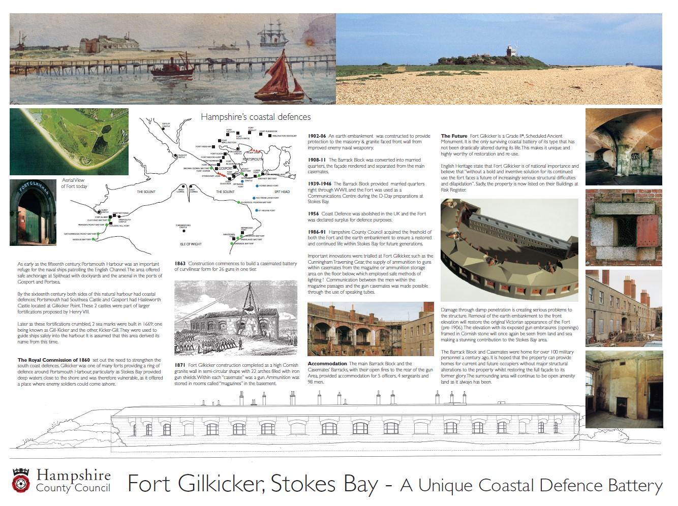 Fort Gilkicker Interpretation Board