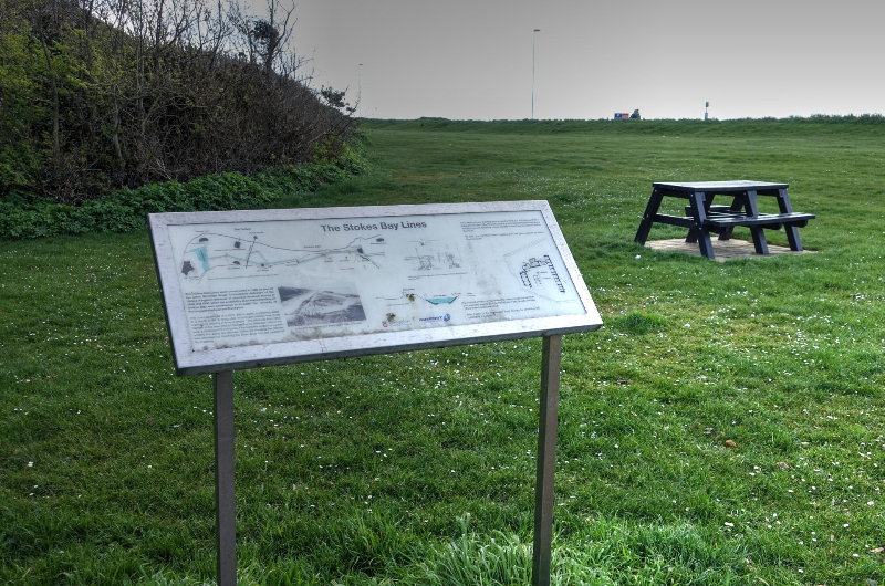 Stokes Bay Lines Interpretation Board 2