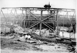 Overhead railways at Leather's yard in Potsmouth Dockyard