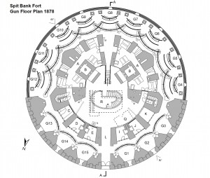Spitbank Fort Gun Floor Plan