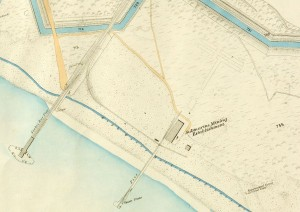 The site of Leather Town laster to become the base for R.E. Submarine Miners