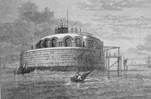 Spitbank Fort before the ironwork was added