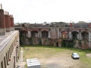 Interior of Fort Gilkicker