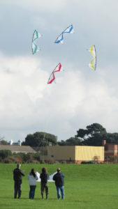 Kite flying at Stokes Bay