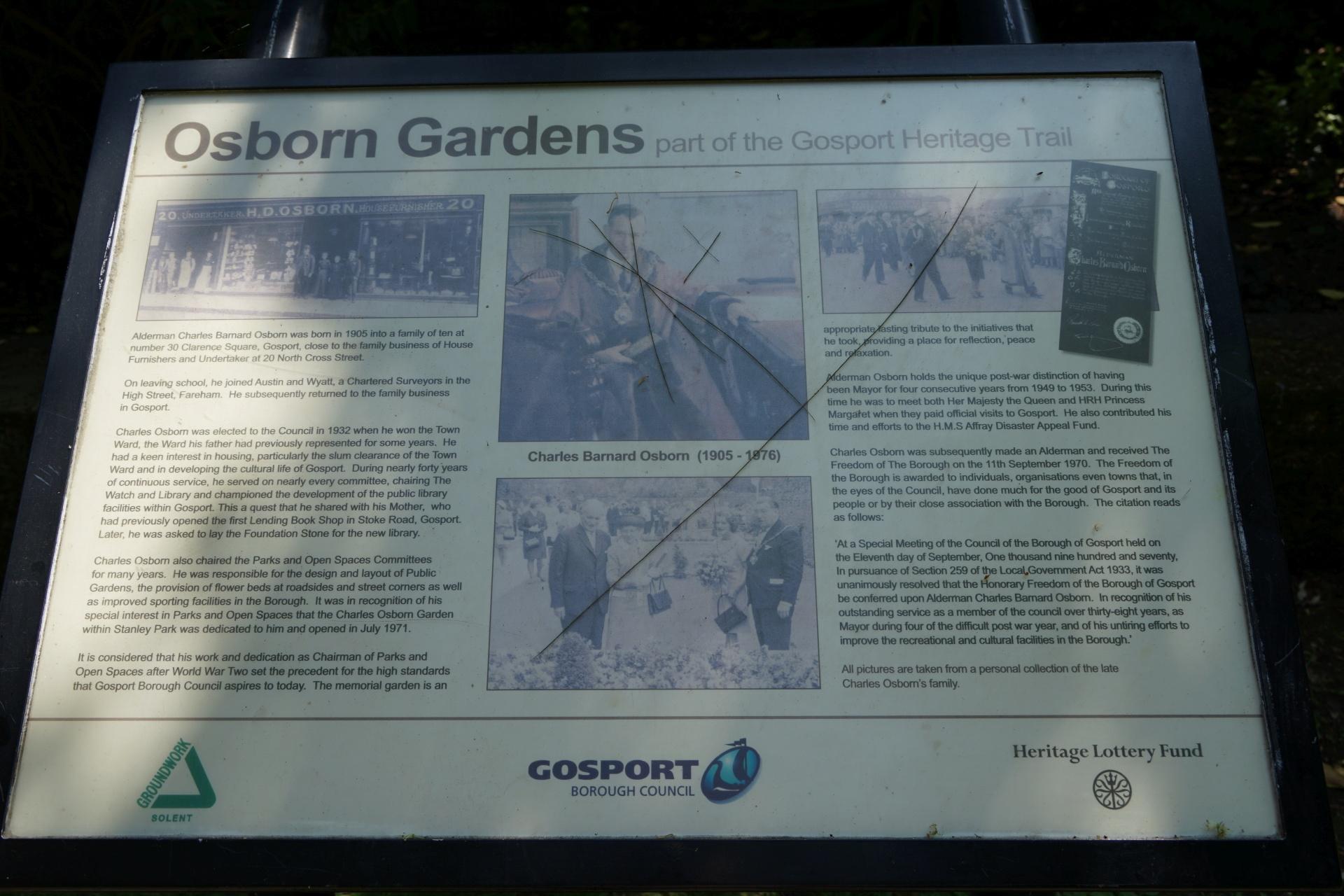 Osborne Garden Information Board