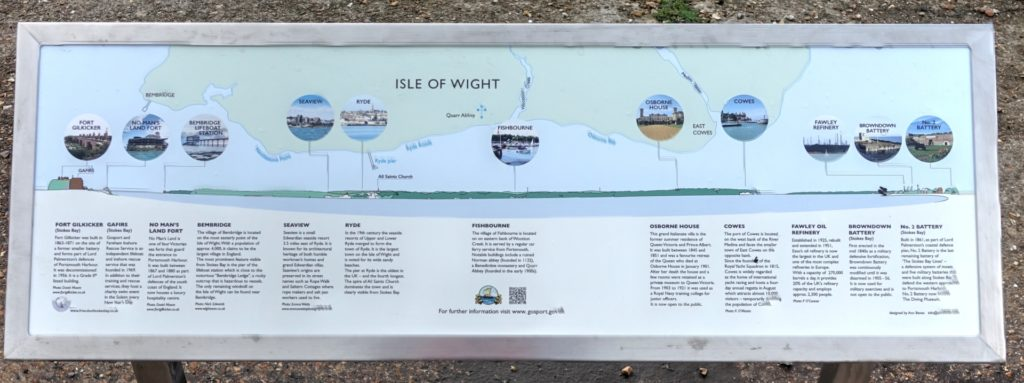 Solent view interpretation board