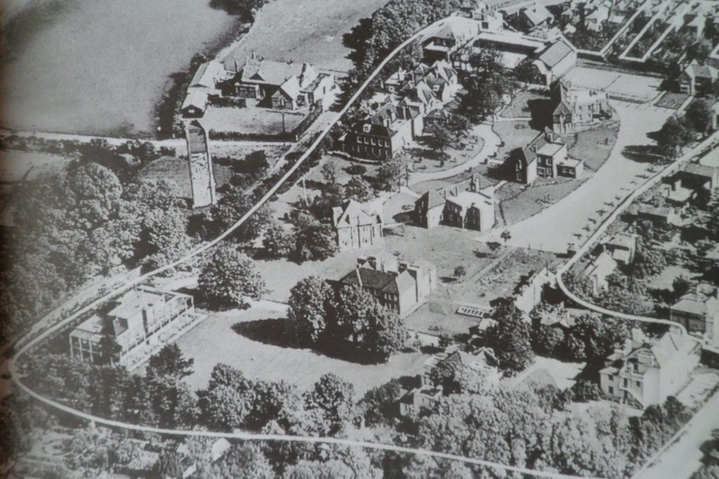 Kickergill can be seen in Clayhall Road on this aerial view of The National Children's Home