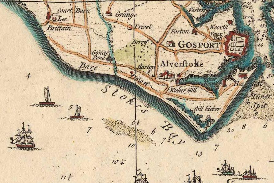 Taylor's Map of 1759 shows Kicker Gill and Gill Kicker