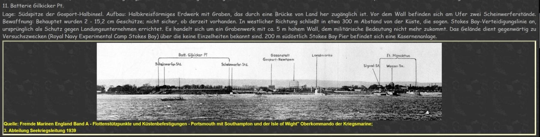 German reconnnaissance photograph of Fort Gilkicker