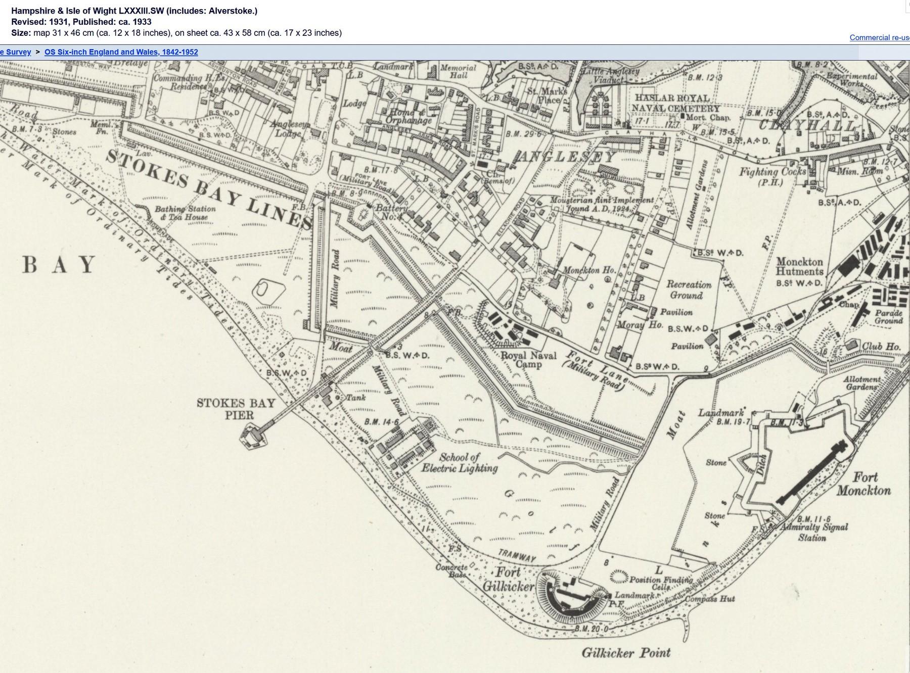 Gilkicker Map 1931