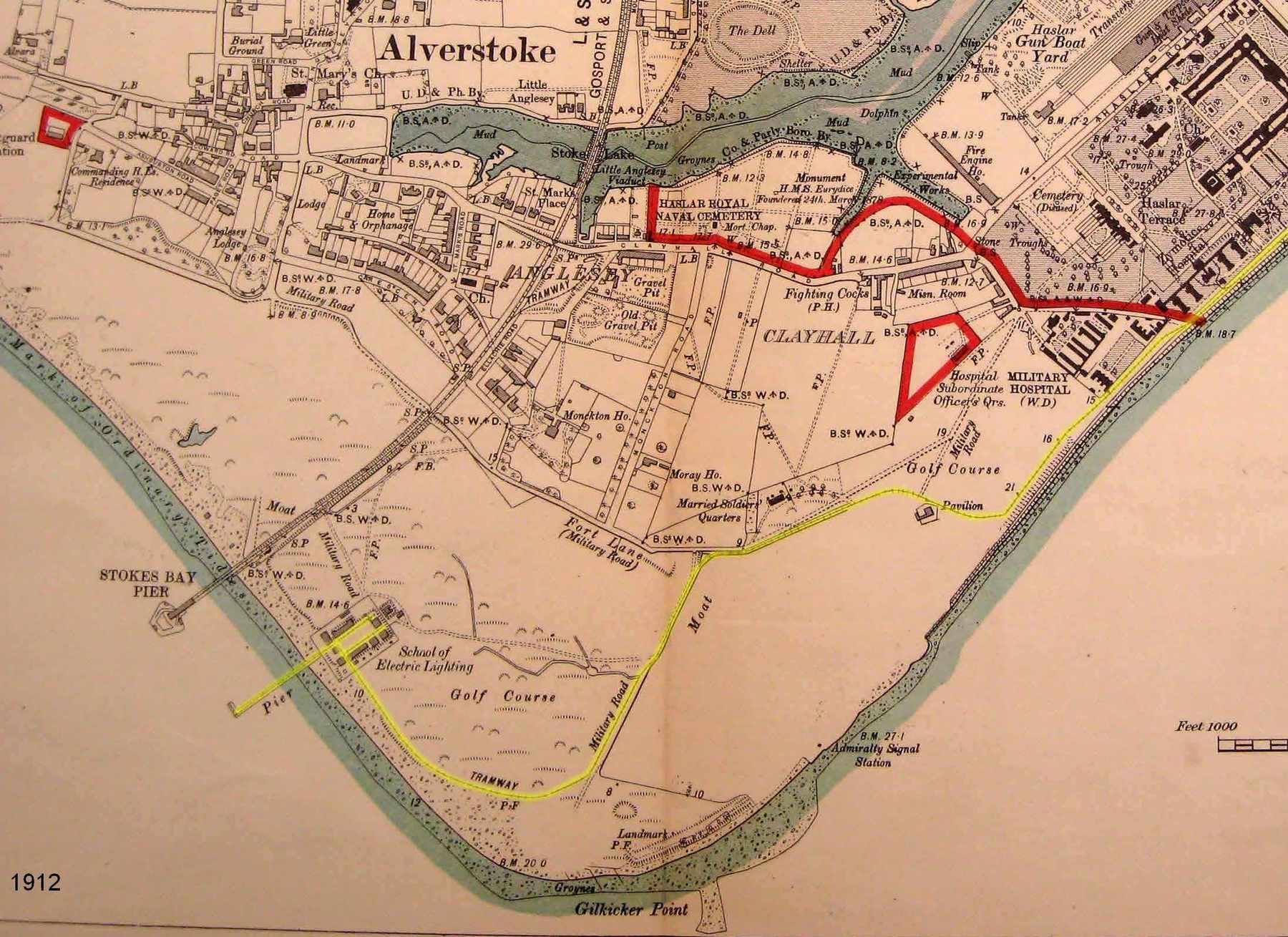 Gilkicker Map 1912