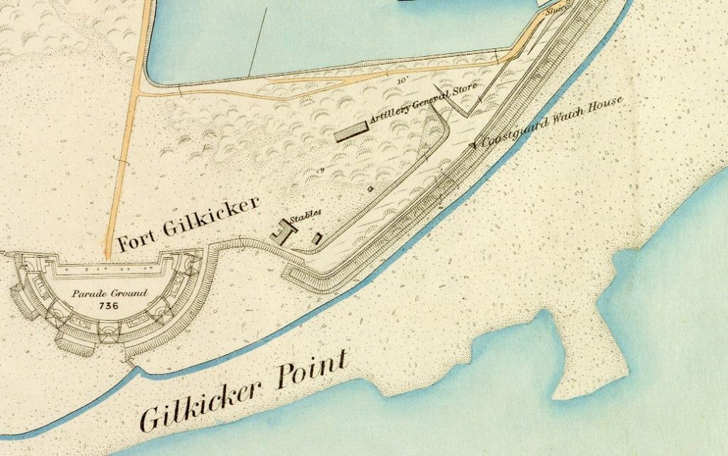 Map of Gilkicker in 1890