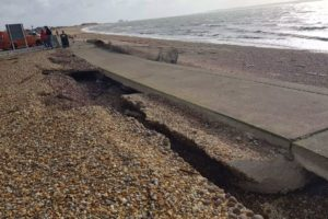 Sea Wall Damage